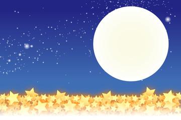 背景素材壁紙,星空,星屑,スターダスト,夜空,天の川,天の河,十五夜,光,銀河,キラキラ,輝き,満月
