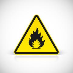 Fire symbol sign.