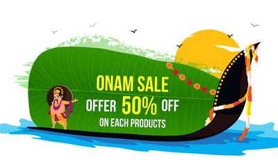 Onam Sale Poster, Banner or Flyer design.