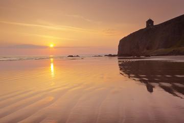 Sunrise over Downhill Beach in Northern Ireland
