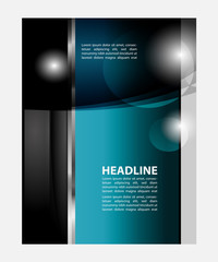 Magazine, flyer, brochure and cover layout design print template, vector Illustration