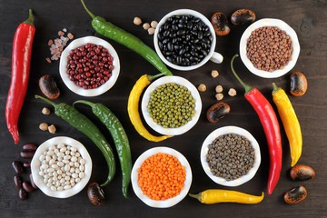 Lentils and beans.