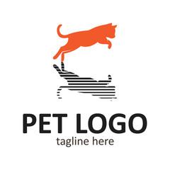 Pet dog simple logo design template