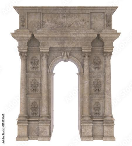 Stone Pillar Arch : Quot classic stone arch with columns imagens e fotos de stock