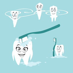 vector flat picture dental care