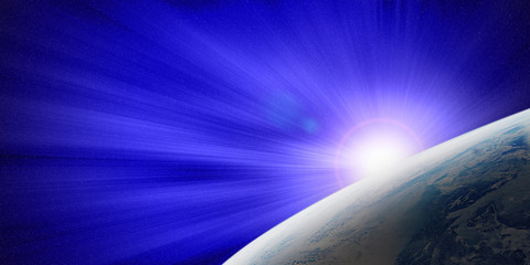 The Earth and Blue Light