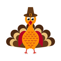 cartoon turkey with hat