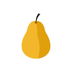 Pear icon in flat style on a white background
