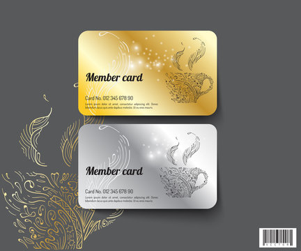 Template design member card. suitable use for coffee business and others.vectro file