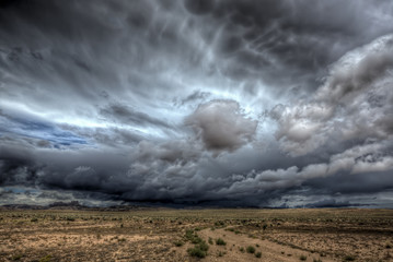 Foto op Canvas Onweer A massive thunderstorm over central Utah