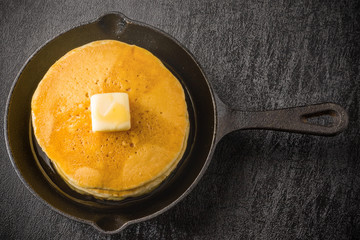 パンケーキとスキレット  Pancake