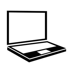 laptop screen computer portable technology electronic icon vecto