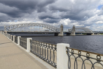 Bolsheokhtinsky bridge in St. Petersburg