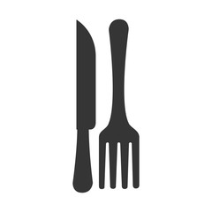 fork knife silverware icon vector graphic