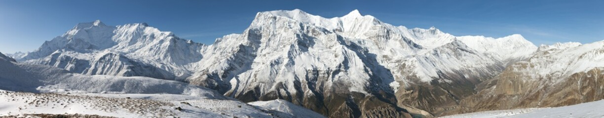 Panoramic view of Annapurna range