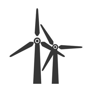 wind farm power icon vector graphic