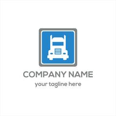 Logistic Truck Logo Vector
