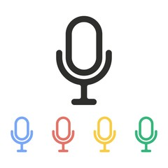 Microphone - vector icon.