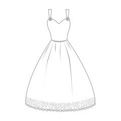 dress wedding bride woman icon vector graphic