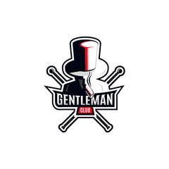 Modern gentleman logo.