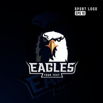 Modern professional eagle logo for a sport team.