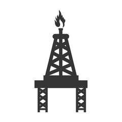 tower flame fire industry icon vector graphic