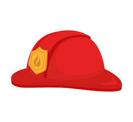 hat fireman fire department cap equipment firefighter vector graphic isolated illustration