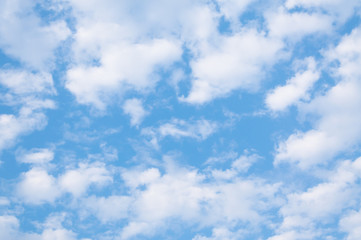blue sky background with tiny clouds, Cloudy blue sky abstract background