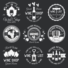 Wine Monochrome Emblems