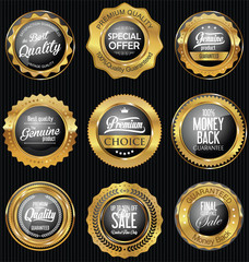 Golden badges and labels retro premium collection