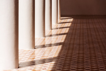 Light and shadow on the floor