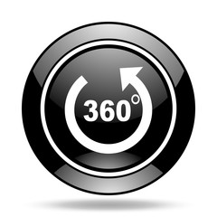 panorama black glossy icon