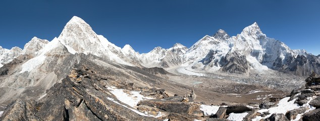 Mount Everest, Lhotse, Nuptse, Pumo Ri and Kala Patthar