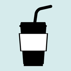 cup plastic straw icon vector illustration graphic