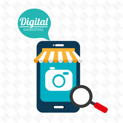 marketing digital smartphone store vector illustration graphic