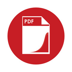 flat design pdf file icon vector illustration