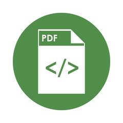 flat design pdf file icon vector illustration