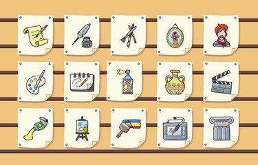 Art and drawing icons set,eps10