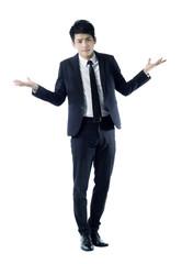 Confused businessman portrait