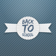 Back to School Badge on paper Ribbon