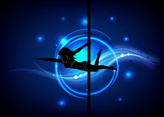 Poledance background