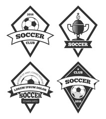 Soccer logo templates collection isolated white