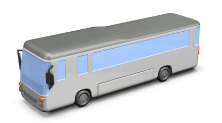 大型バスのミニチュア模型