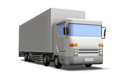 トラックのミニチュア模型