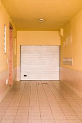 Abstract garage of shop roller shutter background