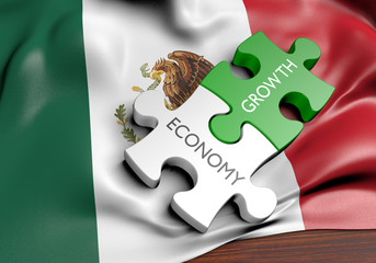 Mexico economy and financial market growth concept, 3D rendering