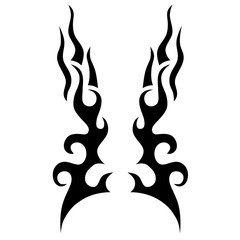 Tattoo design. Stencil. Pattern. Abstract black and white pattern for tattoo or another design.