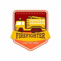 fire fighter logo icon vector