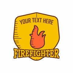 fire fighter logo icon vector