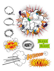 Comic Book Pop Art Graphics